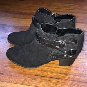 Black Booties with inside zippers